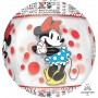Orbz XL Minnie Mouse Clear Shaped Balloon 38cm x 40cm