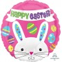 Easter Foil Balloons 45cm Peeking Bunny Happy Easter Round