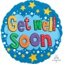 Get Well Foil Balloons 45cm Stars & Brights Get Well Soon