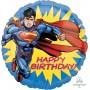 Round Superman Happy Birthday! Foil Balloon 45cm
