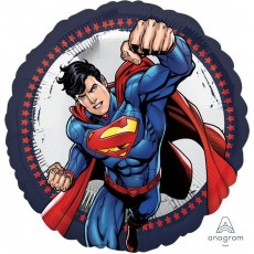 Round Superman Flying Foil Balloon 45cm