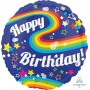 Happy Birthday Shaped Balloons 71cm Colourful Rainbow Fun Round