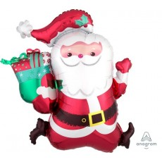 Christmas SuperShape XL Running Santa Shaped Balloon 68cm x 76cm
