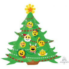 SuperShape XL Christmas Tree & Emoticon Ornaments Shaped Balloon 38cm x 73cm