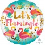 Round Hawaiian Standard HX Let's Flamingle Foil Balloon 45cm