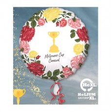 Round Horse Racing Standard Trophy Melbourne Cup Carnival Foil Balloon 45cm