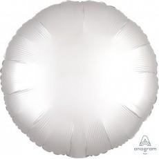 Round Satin Luxe White Standard HX Foil Balloon 45cm