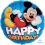 Mickey Mouse Foil Balloons 45cm Happy Birthday! Round