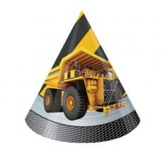 Under Construction Party Hats 15.24cm x 10.79cm Pack of 8