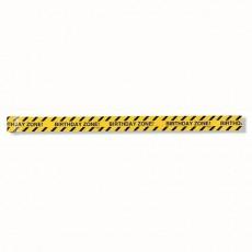 Big Dig Construction Warning Birthday Zone! Party Tape 7.6cm x 13.7m