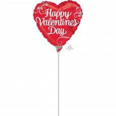 Valentine's Day Foil Balloons 10cm Red