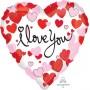 Heart Standard HX Hearts Equal Love I Love You Shaped Balloon 45cm
