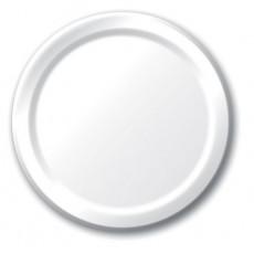 Round White Paper Dinner Plates 23cm Pack of 24