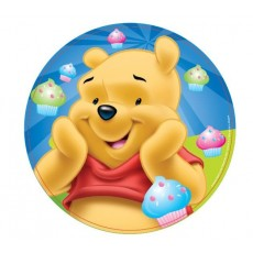 Winnie the Pooh Dinner Plates 23cm Pack of 8