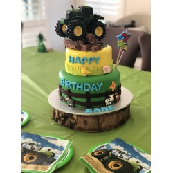 Tractor Time Birthday Cake