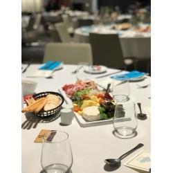 Blue dinner and beverage napkins