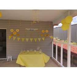 Yellow party decorations