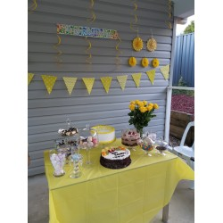 Yellow hanging decorations