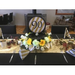 90th Birthday Centrepieces