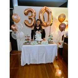 Rose Gold Foil Number Balloons