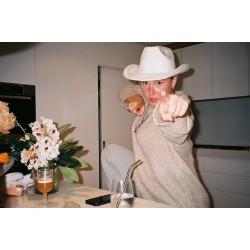 Cowboy & Western White Velour Cowboy Hat