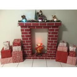 Christmas Brick Wall Scene Setter