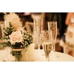 Wedding Champagne Plastic Glasses