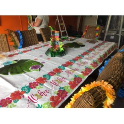 Hawaiian Party Decoration Paper Table Covers