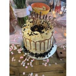 Rose Gold Bridal Shower Cake Topper