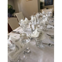 White & Silver Lunch Napkins
