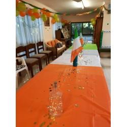 Rectangular Orange Plastic Table Cover