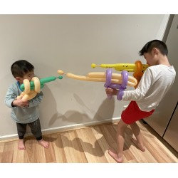Modelling latex balloon guns
