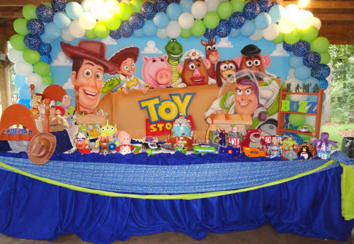 Buzz Lightyear Woody Centerpieces Toy Story Movie Party Favors FAST SHIP Toy Story Birthday Balloons Cup and Stick Included