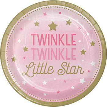 Girls one little star Party Supplies
