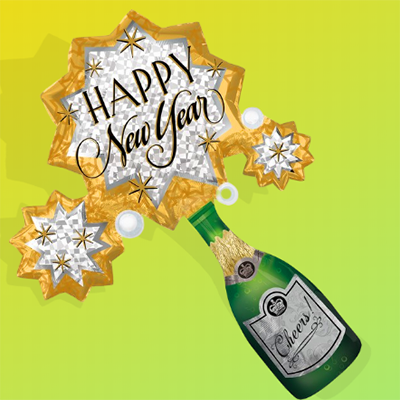 New Year Bubbly Bottle