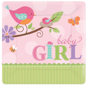 tweet baby girl Party Supplies