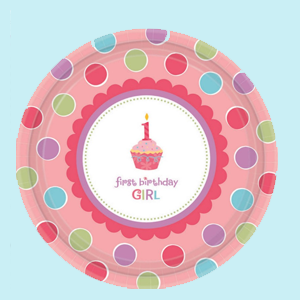 Sweet Cupcake 1st Birthday Boy Party Supplies