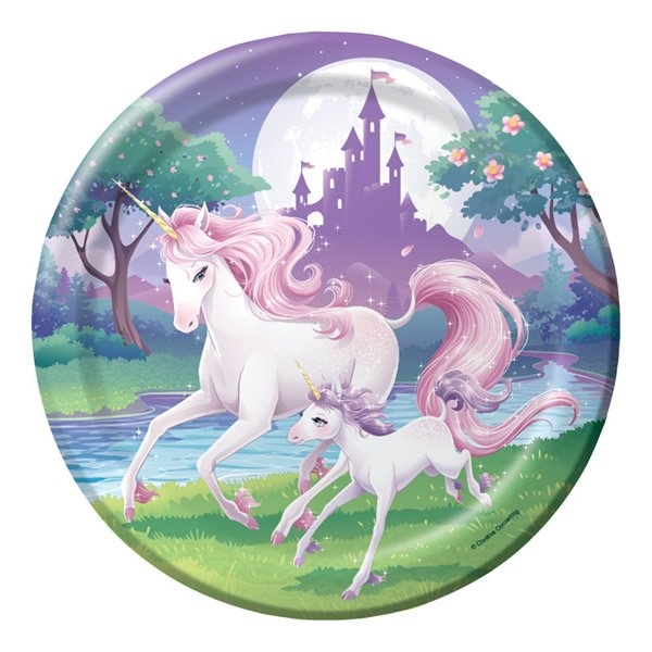 Unicorn Fantasy Dinner Plates 22cm Pack of 8. $8.47  sc 1 st  Express Party Supplies & Unicorn Fantasy Birthday Party Supplies and Decorations Australia